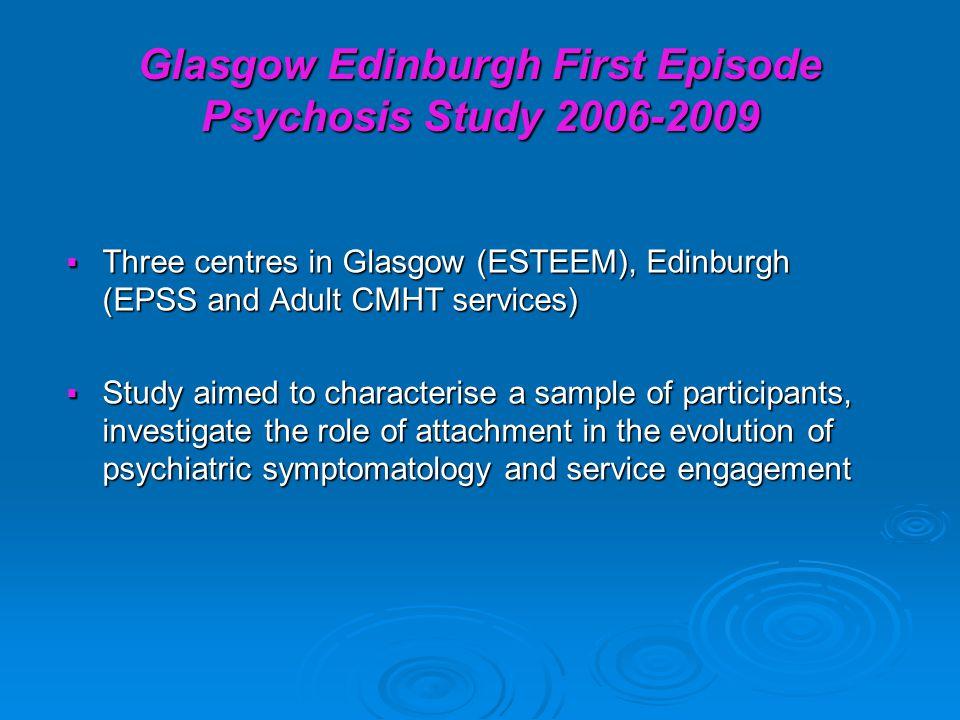 Glasgow Edinburgh First Episode Psychosis Study 2006-2009