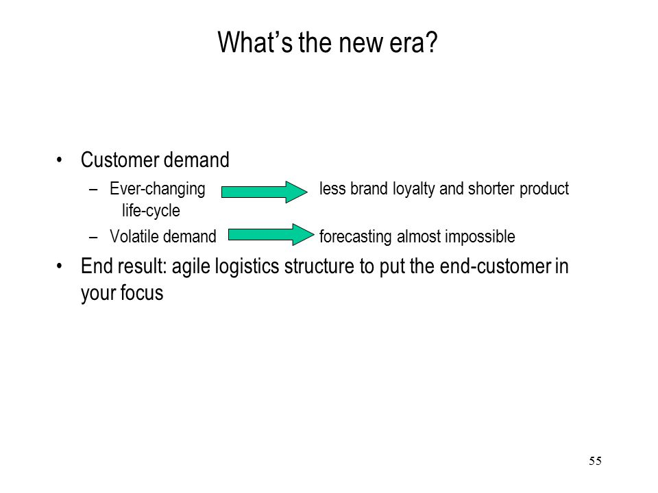 What's the new era Customer demand