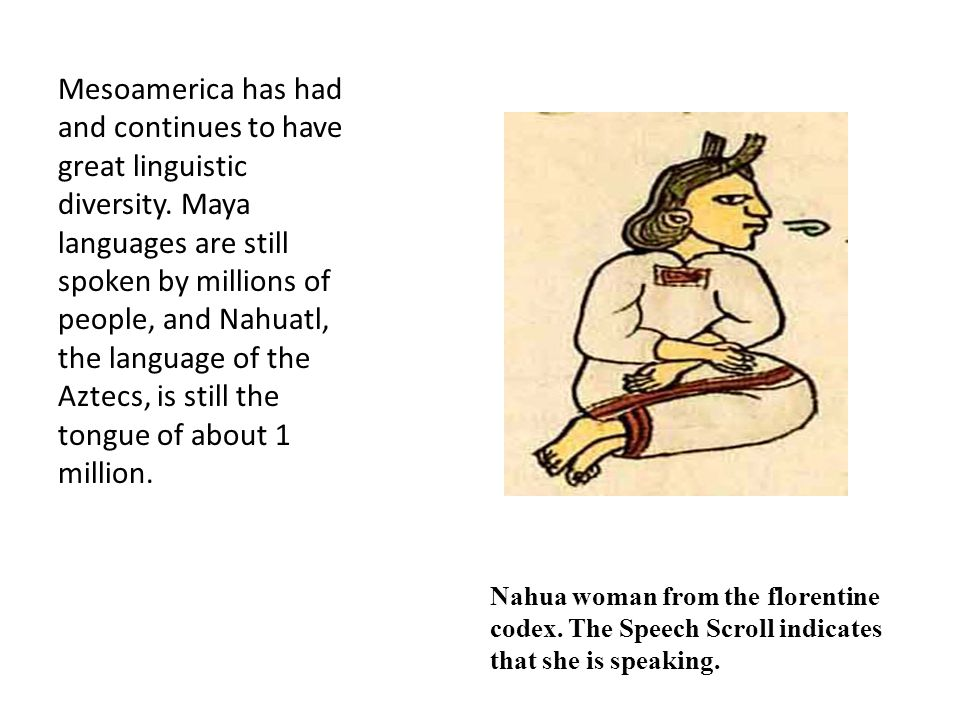 Mesoamerica has had and continues to have great linguistic diversity