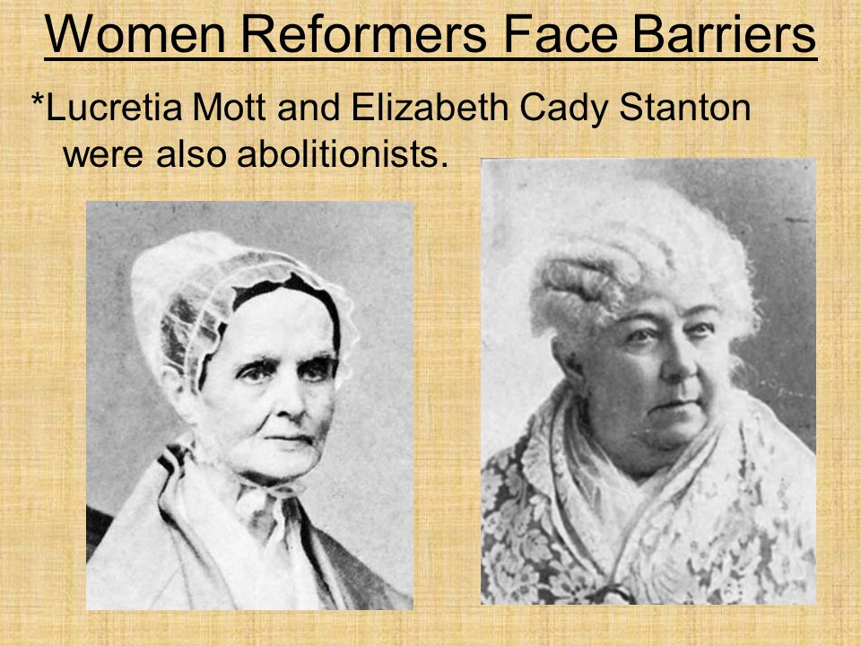 Women Reformers Face Barriers