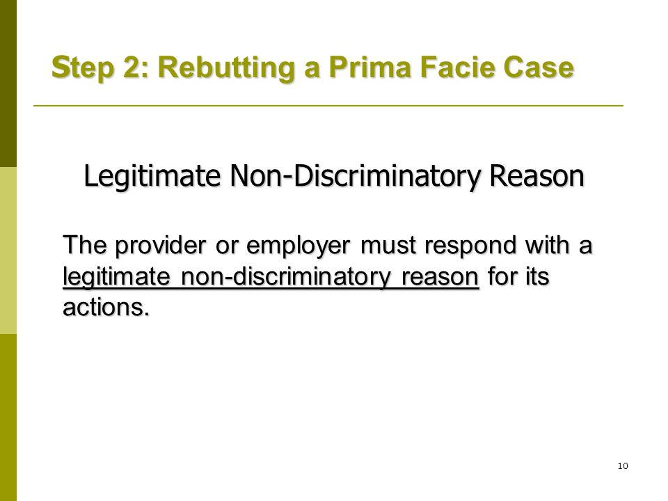 Legitimate Non-Discriminatory Reason
