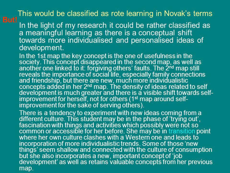 This would be classified as rote learning in Novak's terms