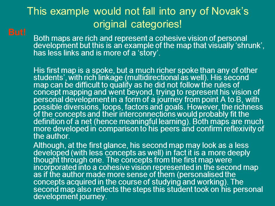 This example would not fall into any of Novak's original categories!