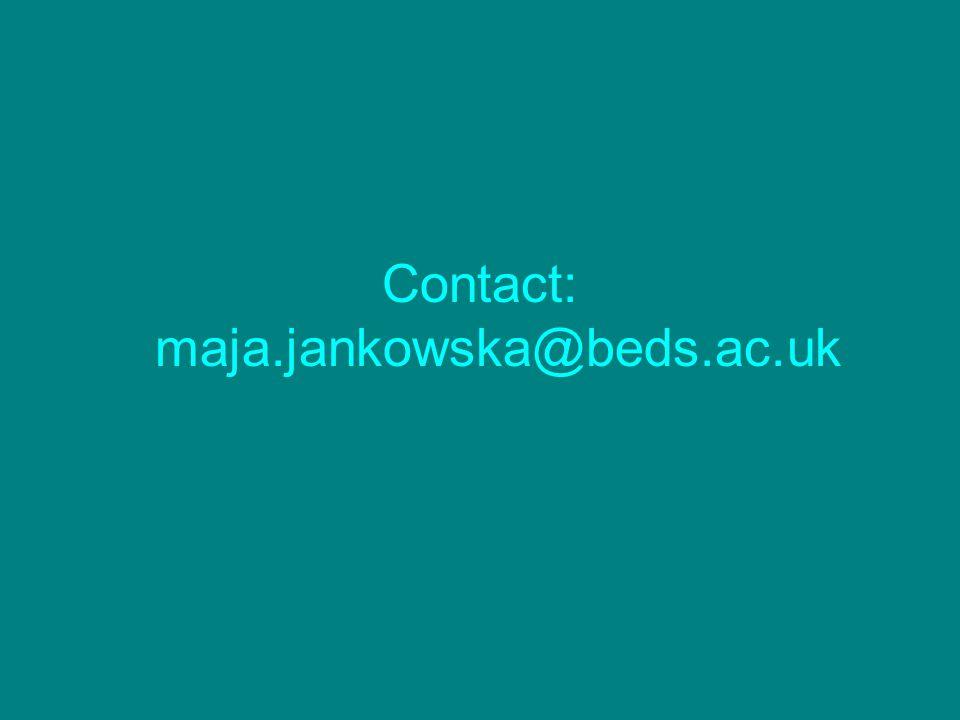 Contact: maja.jankowska@beds.ac.uk