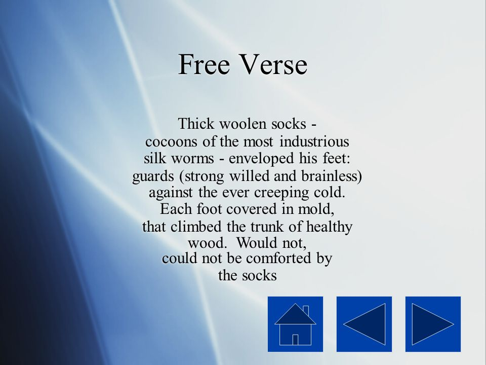 Free Verse Thick woolen socks - cocoons of the most industrious