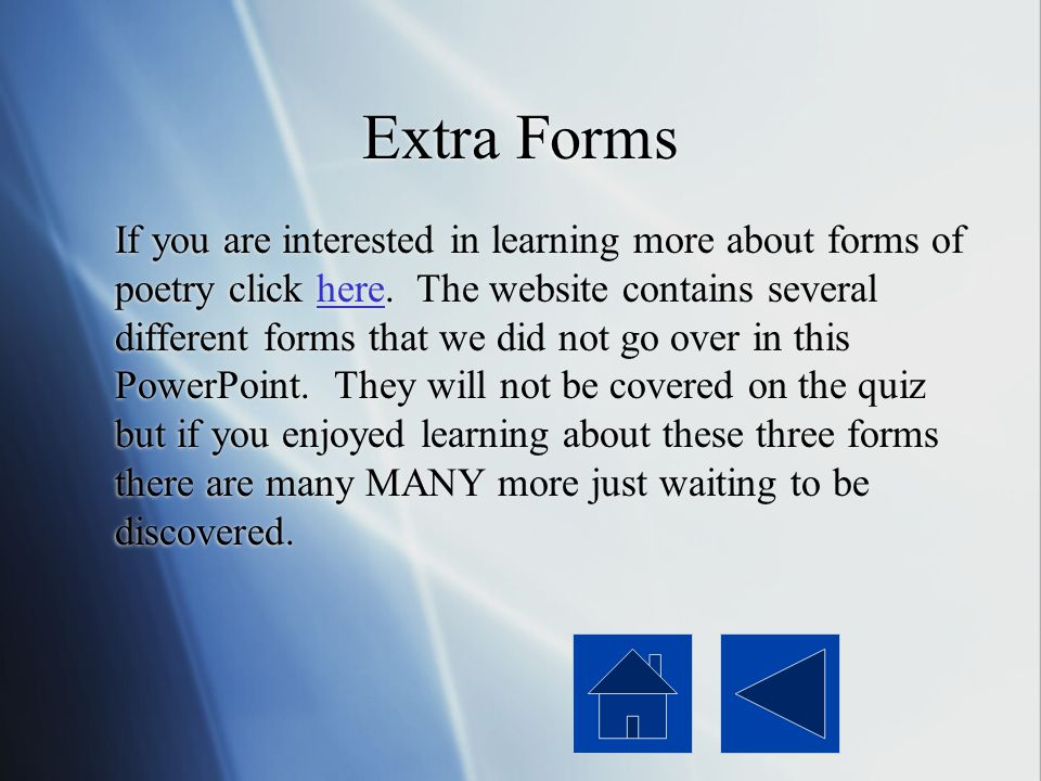 Extra Forms