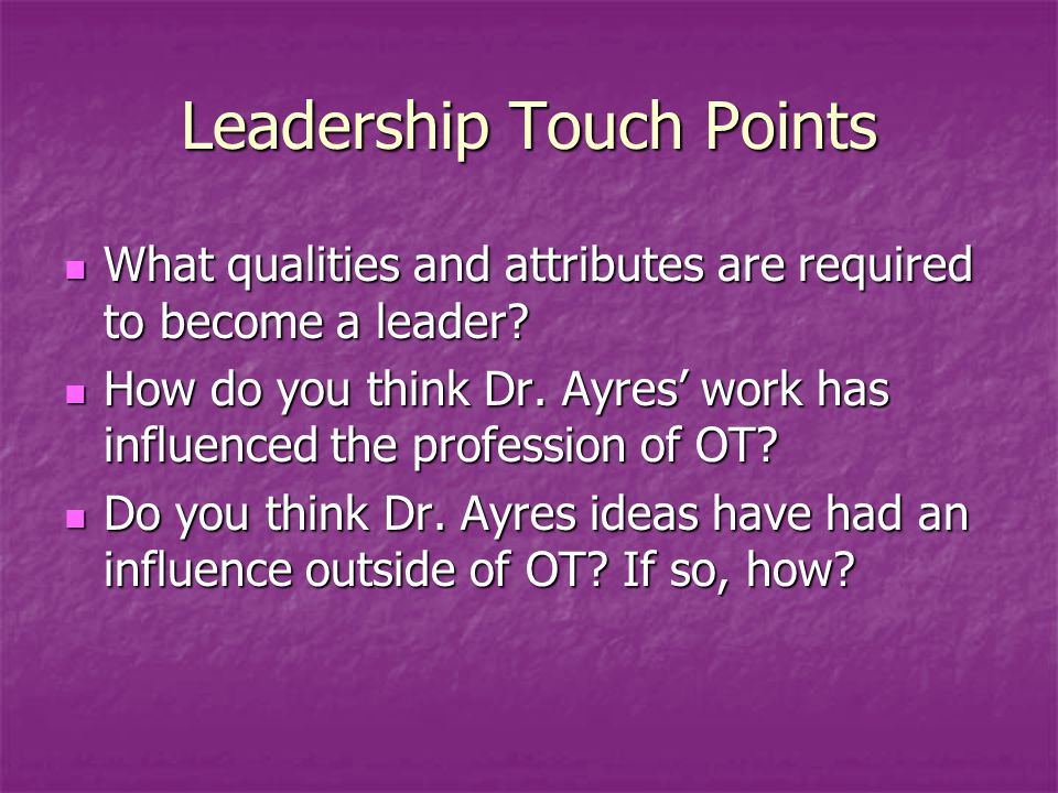 Leadership Touch Points