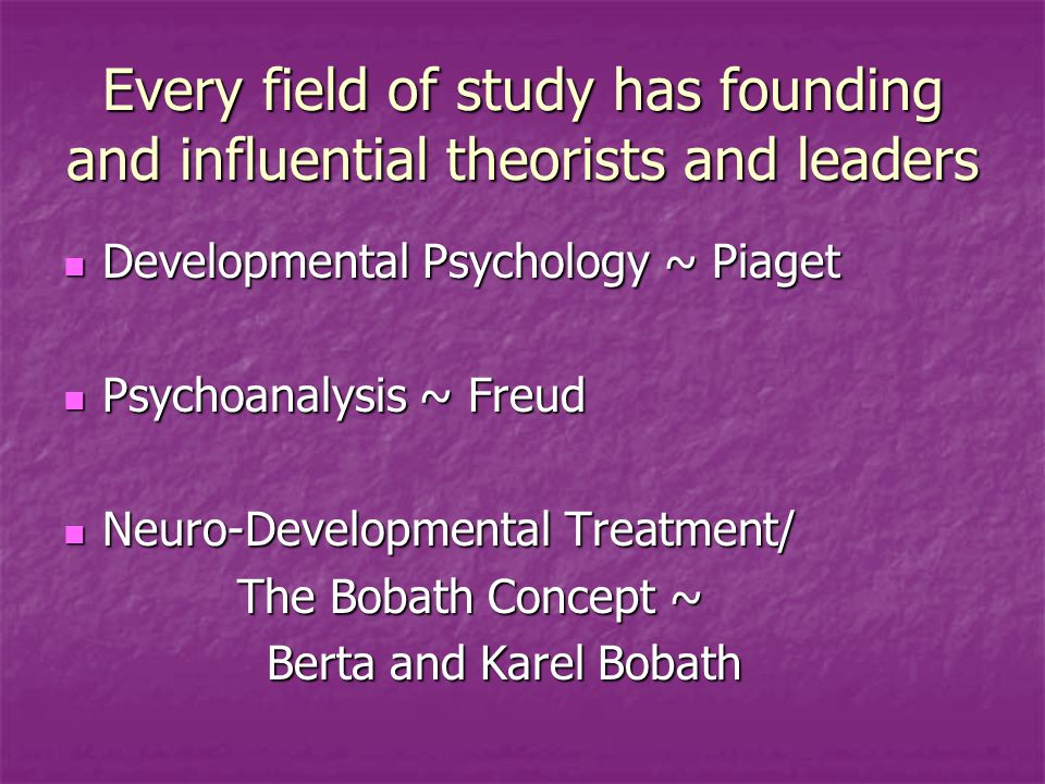 Every field of study has founding and influential theorists and leaders