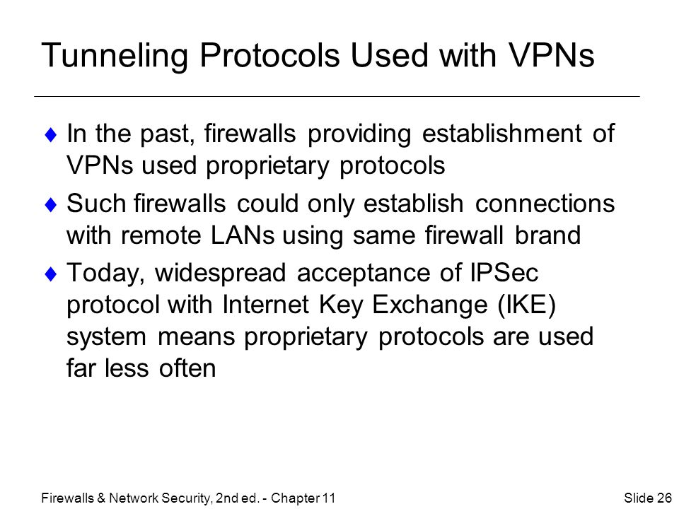 Tunneling Protocols Used with VPNs
