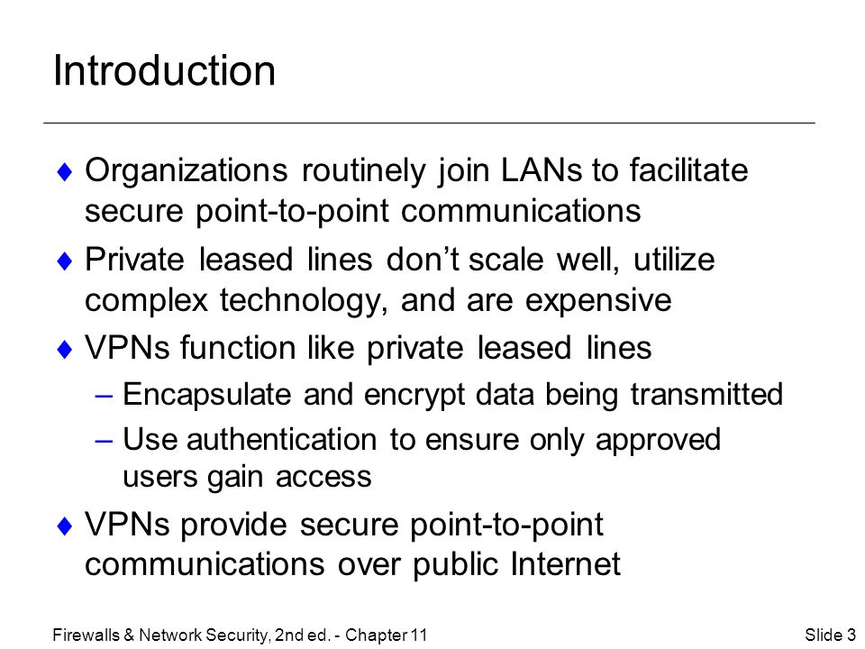 Introduction Organizations routinely join LANs to facilitate secure point-to-point communications.