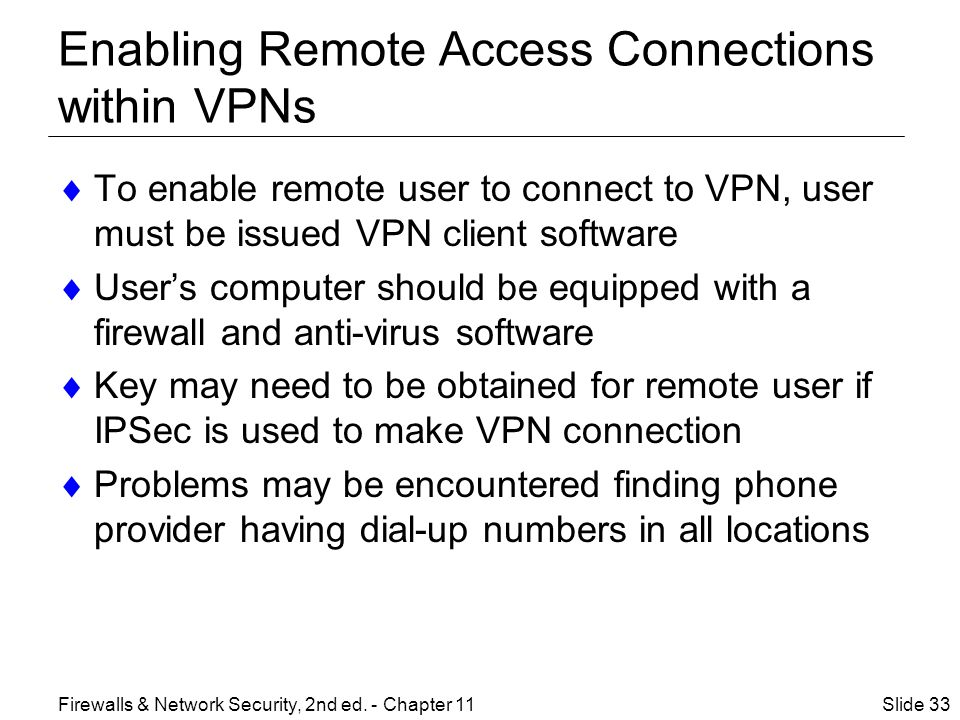 Enabling Remote Access Connections within VPNs