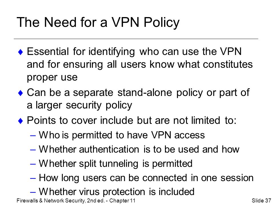 The Need for a VPN Policy