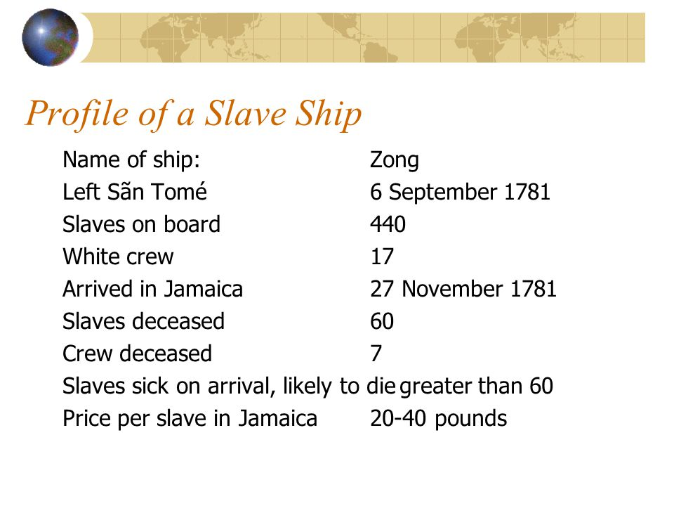 Profile of a Slave Ship from The Memoirs of Granville-Sharp