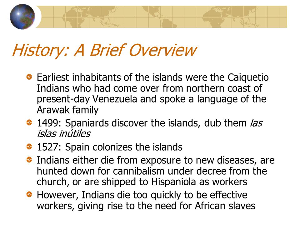 History: A Brief Overview