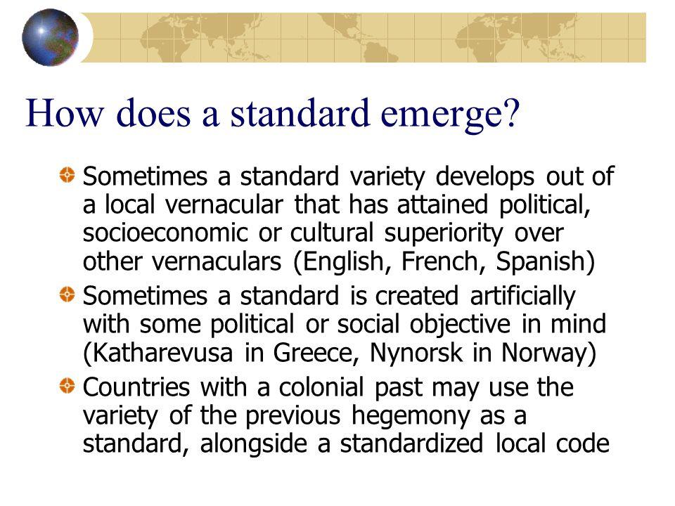 How does a standard emerge