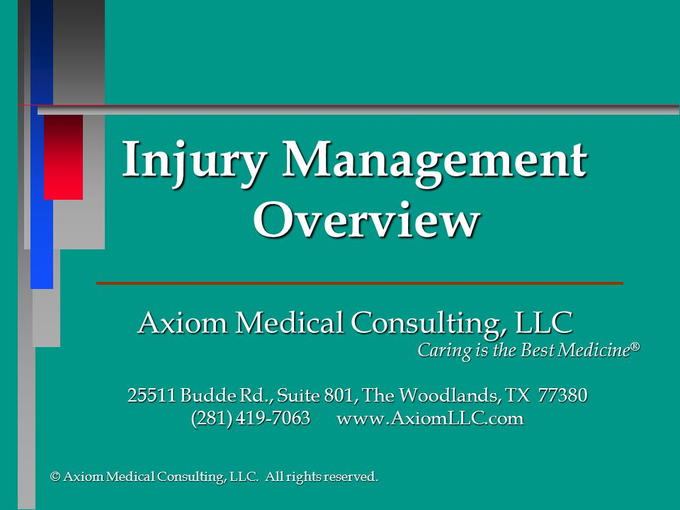 Injury Management Overview