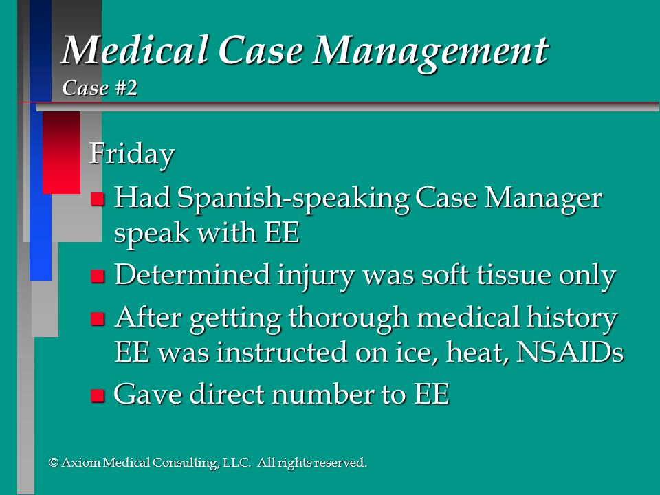Medical Case Management Case #2
