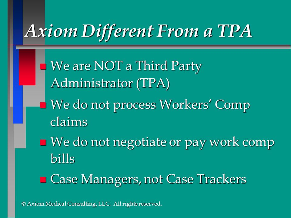 Axiom Different From a TPA