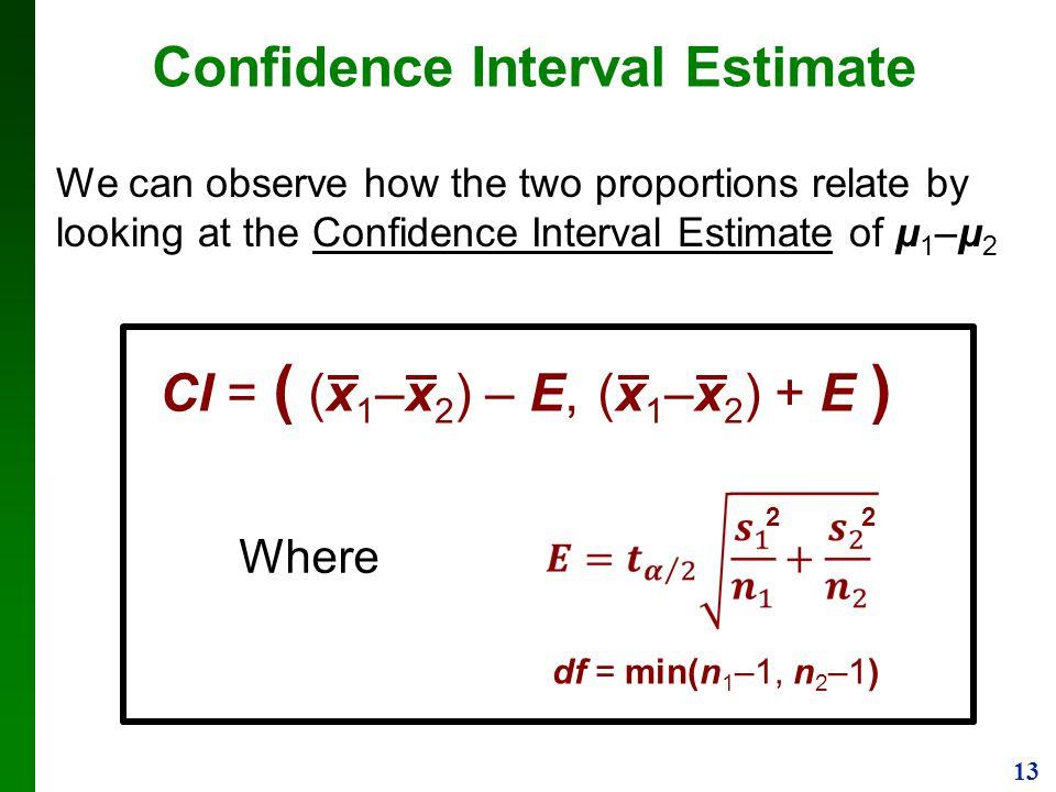 Confidence Interval Estimate