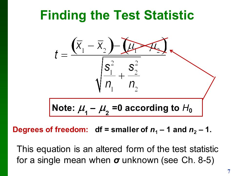 Finding the Test Statistic