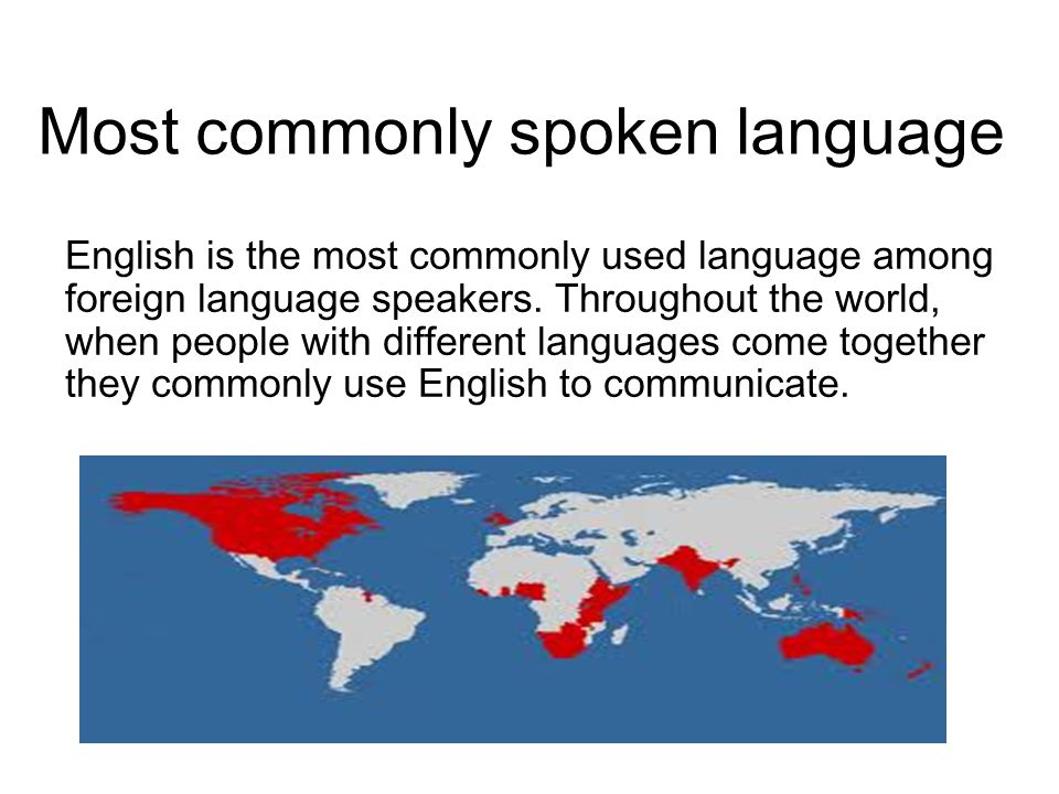 Most commonly spoken language