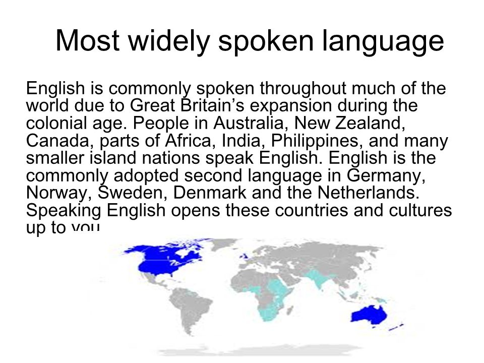 Most widely spoken language