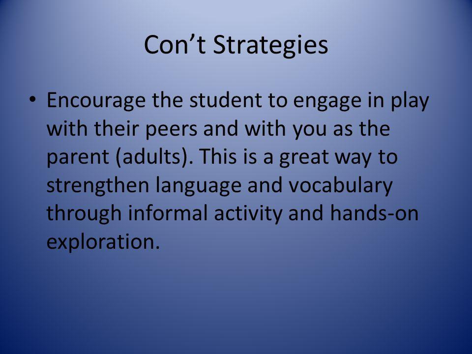 Con't Strategies
