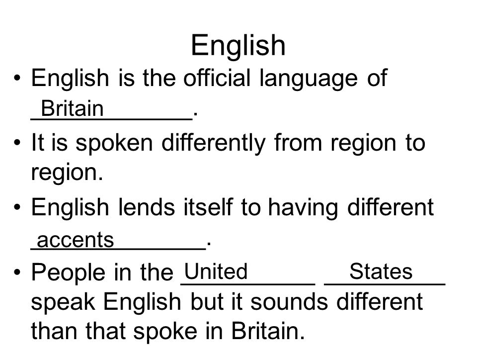 English English is the official language of ____________.