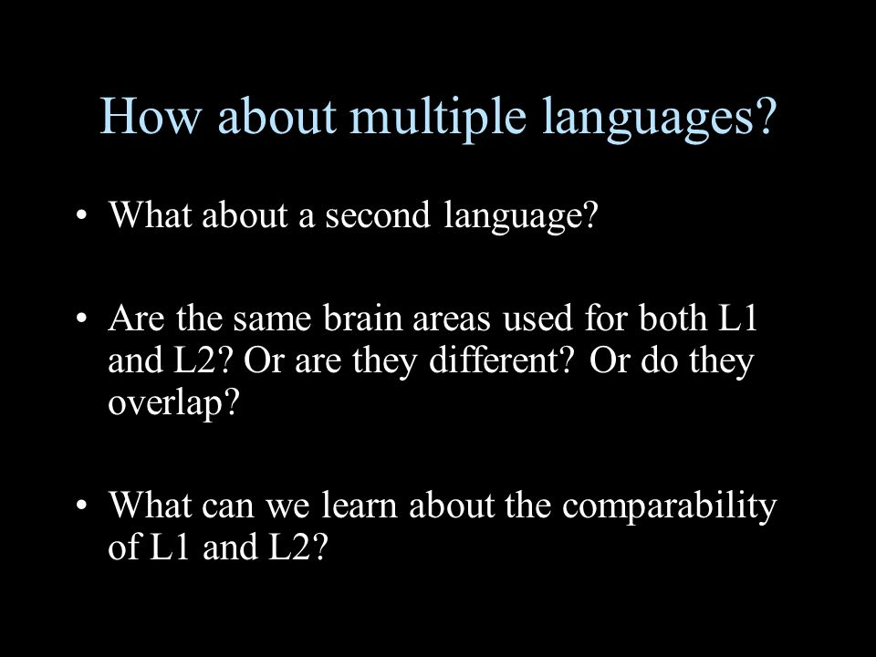 How about multiple languages