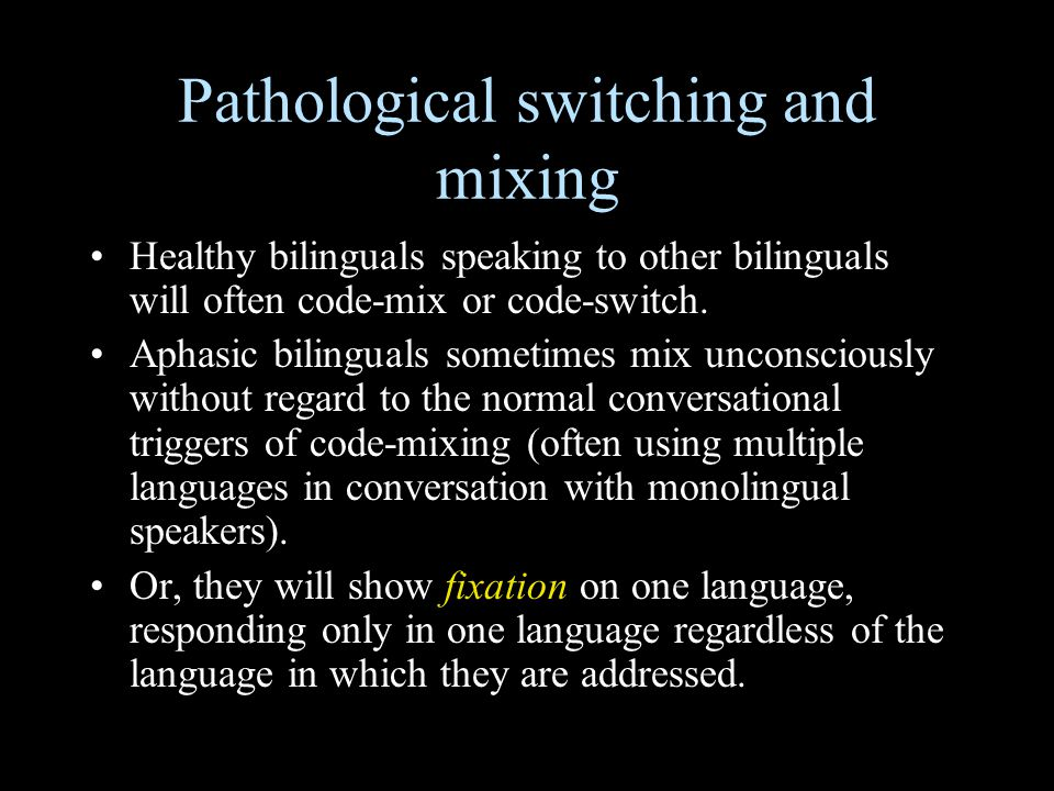Pathological switching and mixing