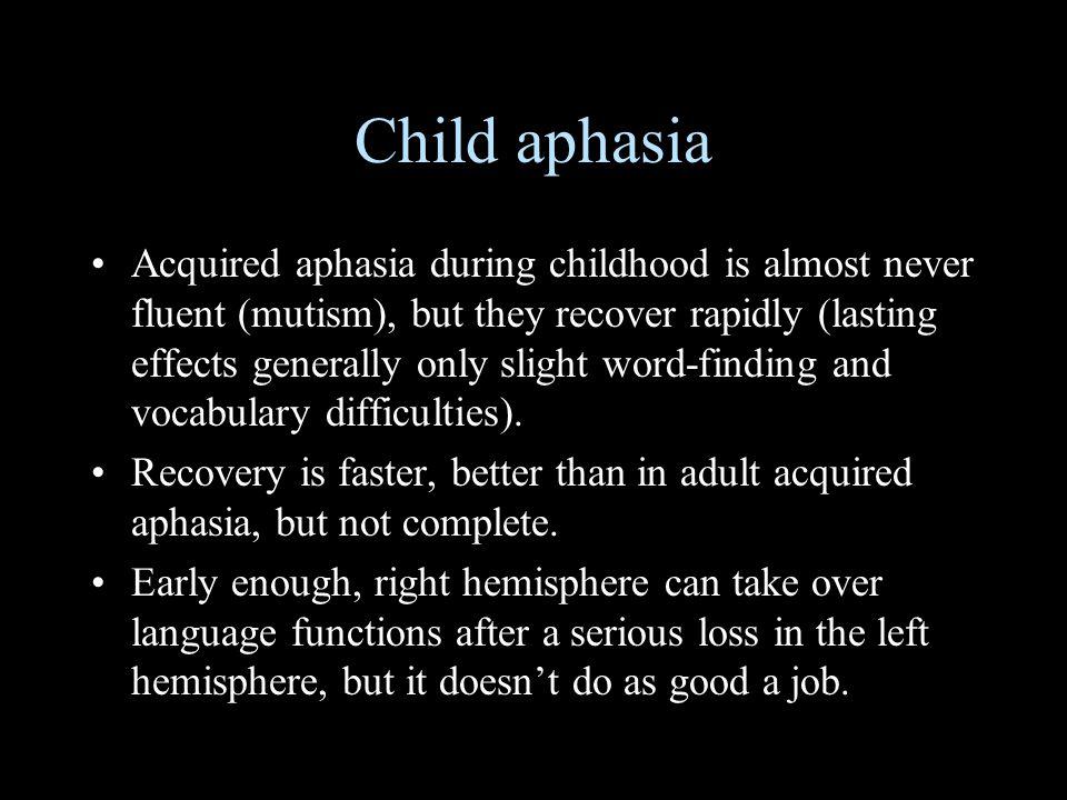Child aphasia