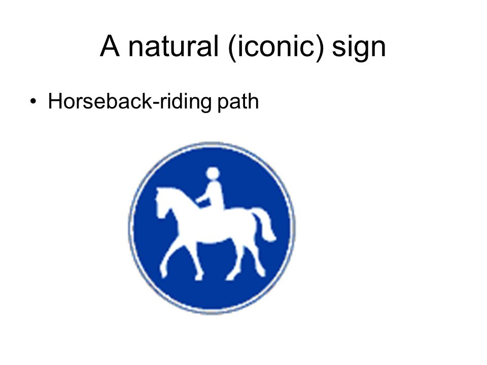 A natural (iconic) sign