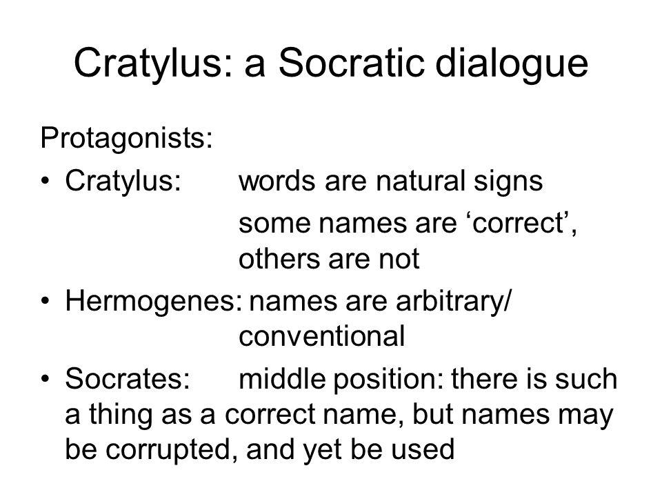 Cratylus: a Socratic dialogue