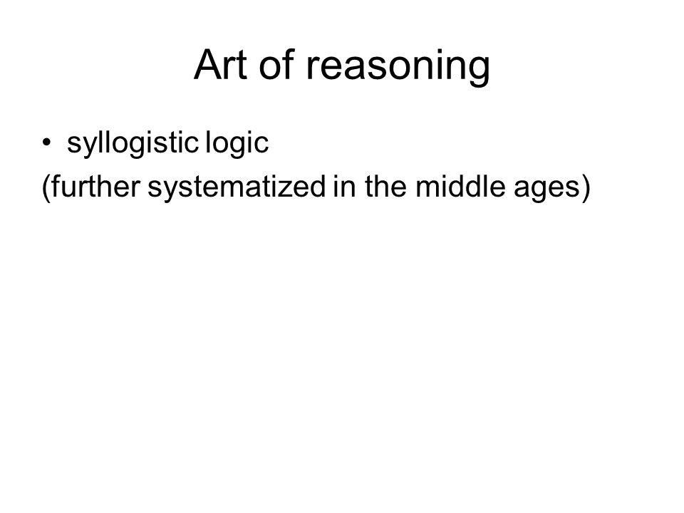 Art of reasoning syllogistic logic