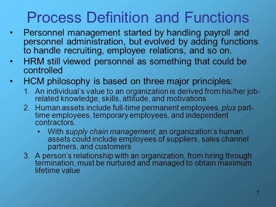Process Definition and Functions
