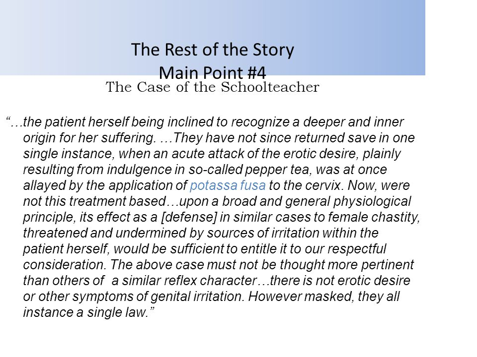 The Rest of the Story Main Point #4