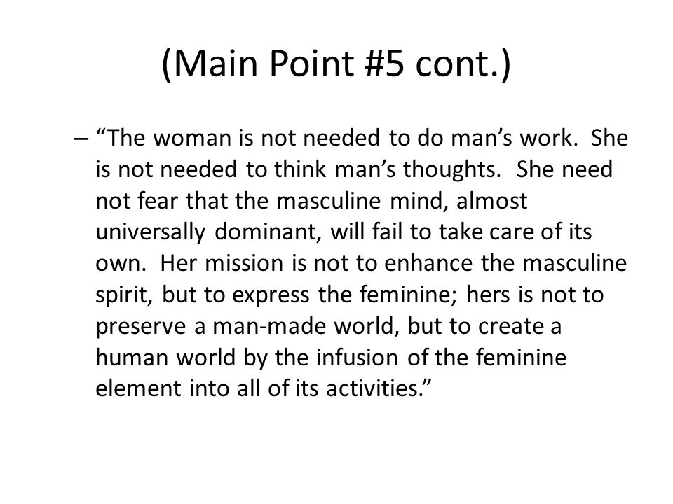 (Main Point #5 cont.)