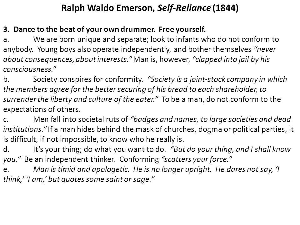Ralph Waldo Emerson, Self-Reliance (1844)