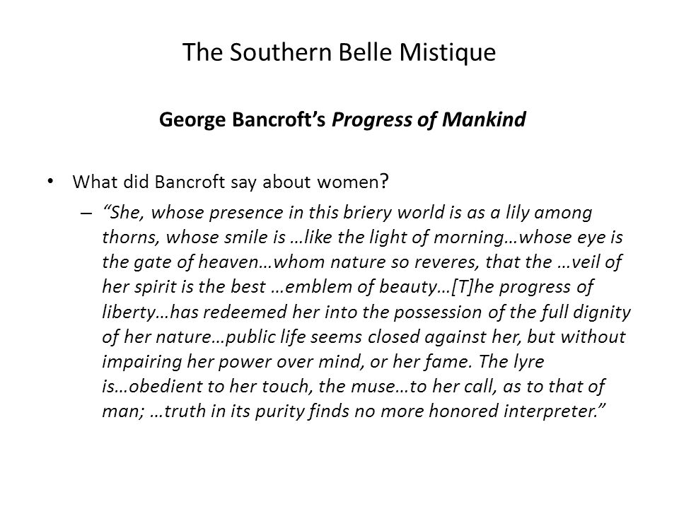 George Bancroft's Progress of Mankind