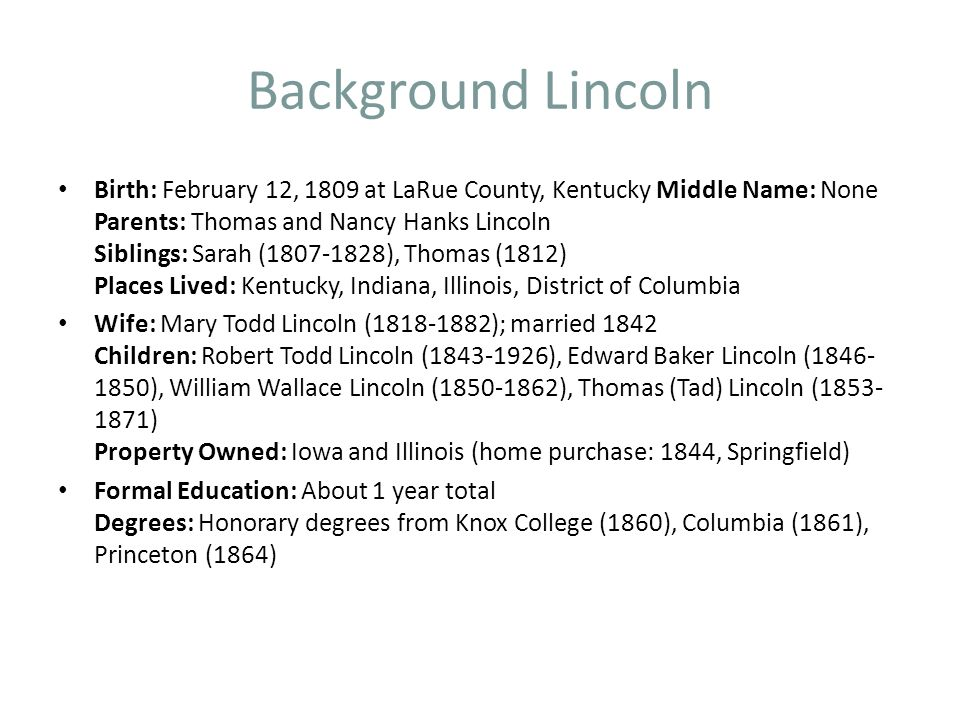 Background Lincoln