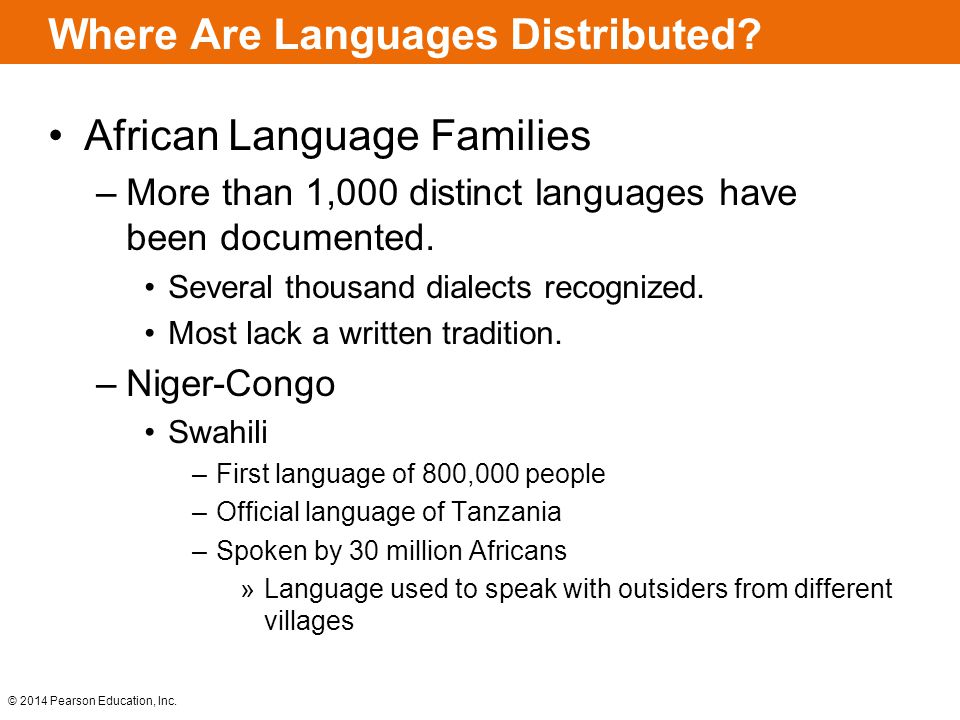 Where Are Languages Distributed