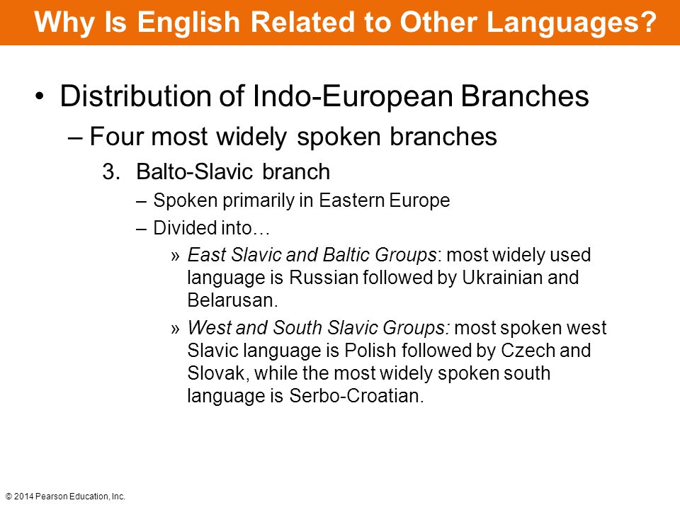 Why Is English Related to Other Languages