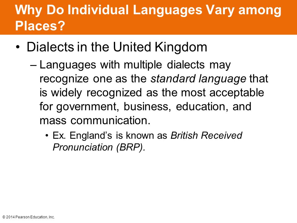 Why Do Individual Languages Vary among Places