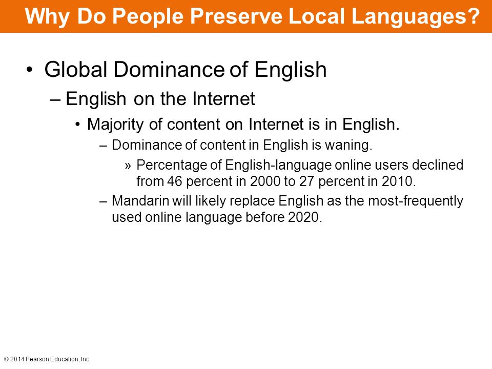 Why Do People Preserve Local Languages
