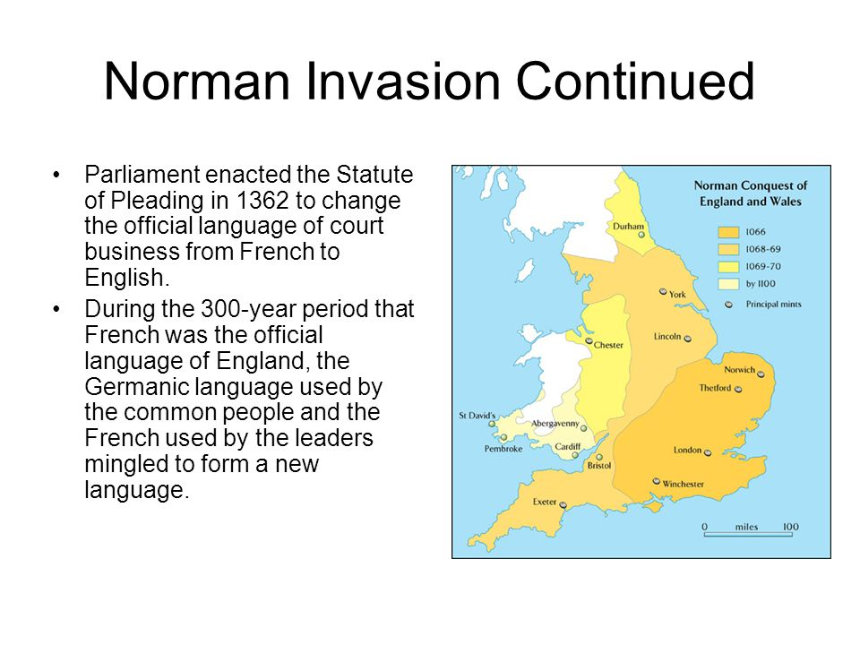 Norman Invasion Continued