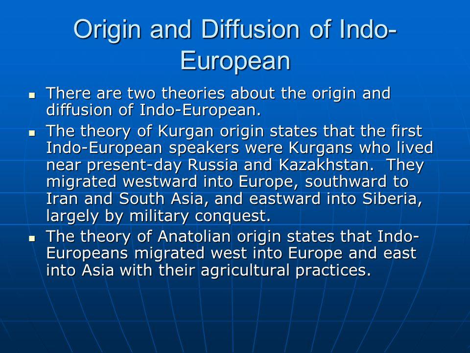 Origin and Diffusion of Indo-European