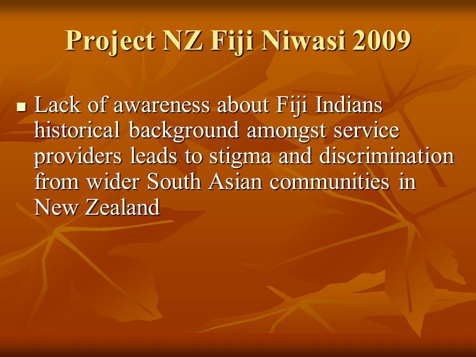 Project NZ Fiji Niwasi 2009