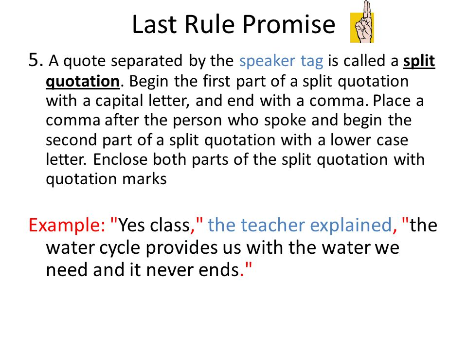 Last Rule Promise
