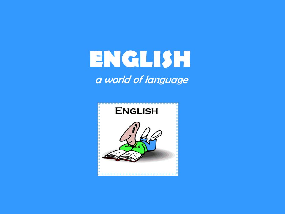ENGLISH a world of language