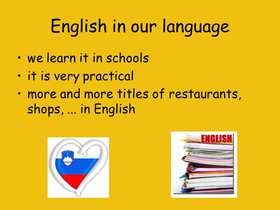 English in our language